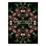 tarjeta de la guirnalda del fractal