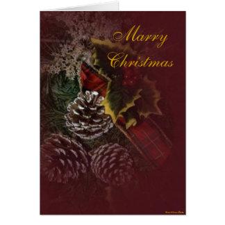 Tarjeta de la guirnalda del navidad