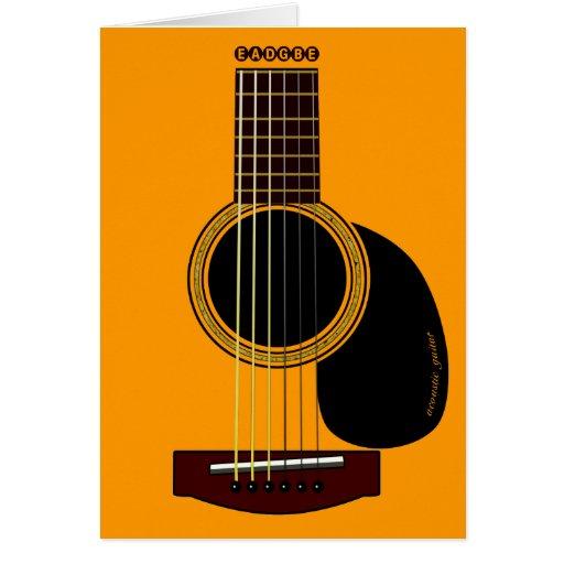 tarjeta de la guitarra acústica