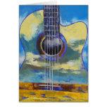 Tarjeta de la guitarra y de las nubes