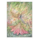 Tarjeta de la hada de la flor del verano