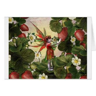 Tarjeta de la hada de la fresa