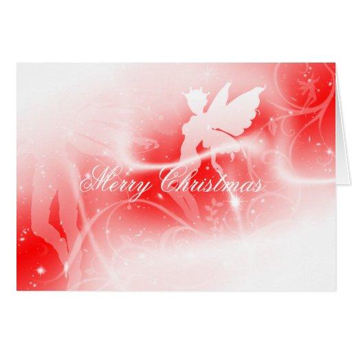 Tarjeta de la hada de las Felices Navidad