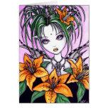 Tarjeta de la hada de Lilly del tigre de Ayla