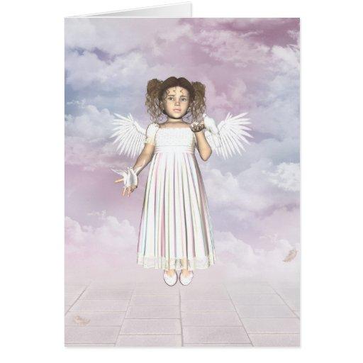 Tarjeta de la hada de los ángeles