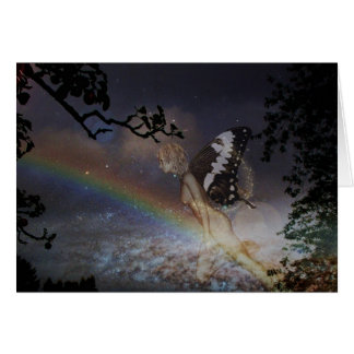Tarjeta de la hada del arco iris