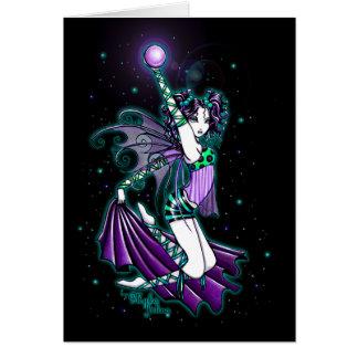 Tarjeta de la hada del arco iris del baile de Seph