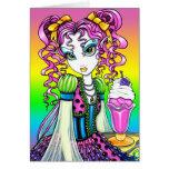 Tarjeta de la hada del arco iris del helado del so