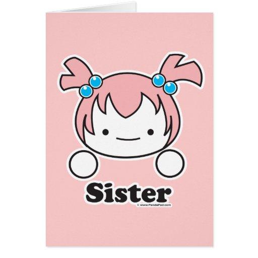 Tarjeta de la hermana