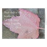 Tarjeta de la hoja del otoño de la cita de Rumi