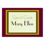 Tarjeta de la huésped especial de la celebración tarjetas de negocios