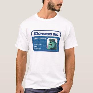 Tarjeta de la identificación de Monsters Inc. Playera