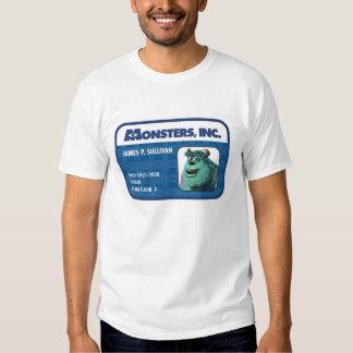 Tarjeta de la identificación de Monsters Inc. Remera