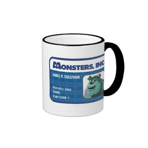 Tarjeta de la identificación de Monsters Inc. Taza De Dos Colores