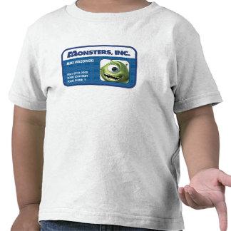Tarjeta de la identificación del empleado de camisetas