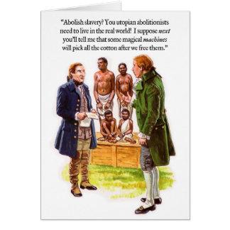 Tarjeta de la imaginación del Abolitionism