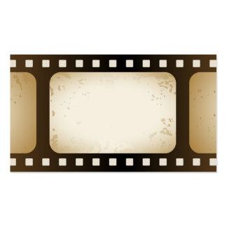 tarjeta de la industria cinematográfica tarjeta personal