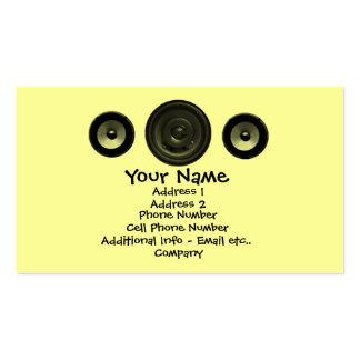 Tarjeta de la industria musical - altavoces tarjeta de visita