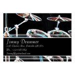 Tarjeta de la industria musical - batería que bril tarjetas de visita