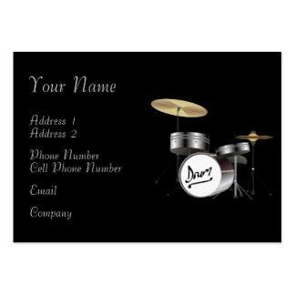 Tarjeta de la industria musical - batería plantillas de tarjetas personales