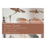 Tarjeta de la industria musical - batería tarjetas de visita