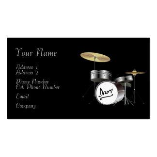 Tarjeta de la industria musical - batería plantilla de tarjeta de negocio