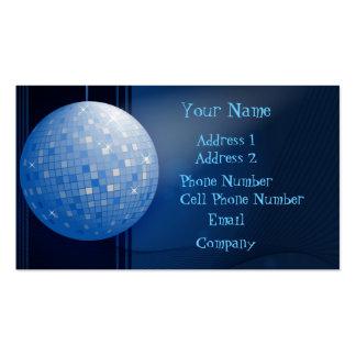 Tarjeta de la industria musical - bola de discotec tarjetas de visita