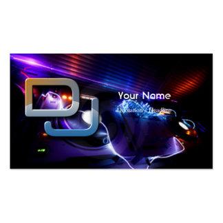 Tarjeta de la industria musical de DJ Tarjeta De Visita