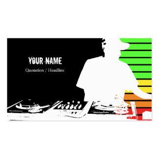 Tarjeta de la industria musical de DJ Tarjetas De Visita