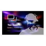 Tarjeta de la industria musical de DJ Tarjetas De Negocios