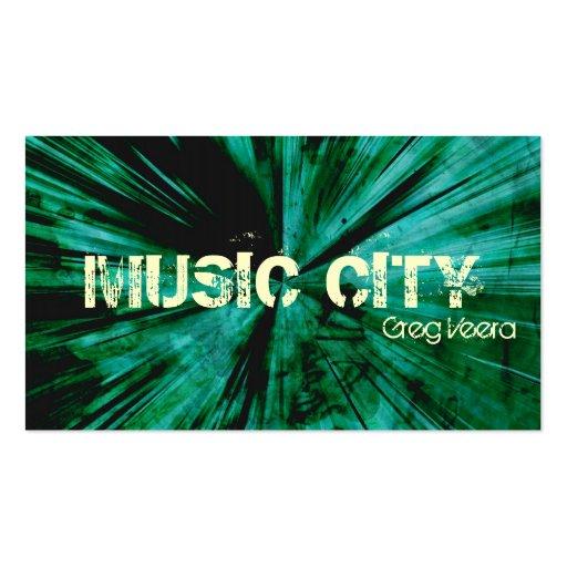 Tarjeta de la industria musical de la explosión de plantilla de tarjeta de visita