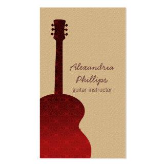 Tarjeta de la industria musical de la guitarra del tarjetas de visita