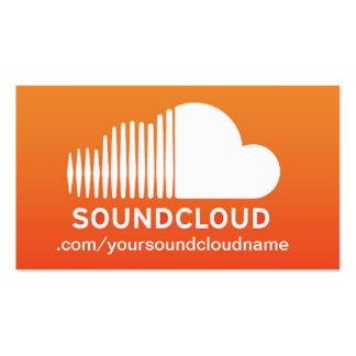 Tarjeta de la industria musical de SoundCloud Tarjetas De Visita