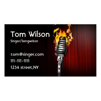tarjeta de la industria musical del cantante del tarjetas de visita