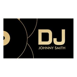 Tarjeta de la industria musical del disco de tarjetas de visita