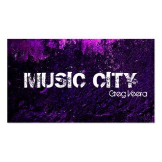 Tarjeta de la industria musical del Grunge - textu Tarjetas De Visita