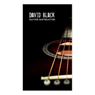 Tarjeta de la industria musical del instructor de tarjetas de visita