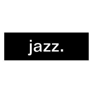 Tarjeta de la industria musical del jazz tarjetas de visita mini