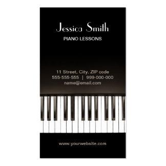 Tarjeta de la industria musical del piano tarjetas de visita