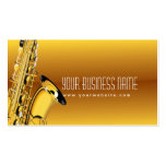 Tarjeta de la industria musical del saxofón del ja tarjetas de visita