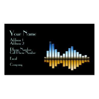 Tarjeta de la industria musical - equalizador tarjeta de visita