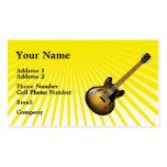 Tarjeta de la industria musical - guitarra - amari tarjeta personal