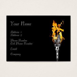 Tarjeta de la industria musical - micrófono