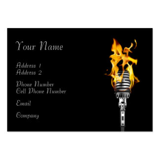 Tarjeta de la industria musical - micrófono llamea tarjetas personales
