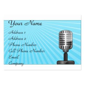 Tarjeta de la industria musical - micrófono retro plantilla de tarjeta de negocio