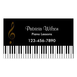 Tarjeta de la industria musical parte posterior d tarjeta de visita