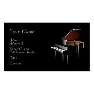 Tarjeta de la industria musical - piano tarjetas de visita