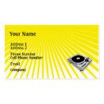 Tarjeta de la industria musical - placa giratoria  plantilla de tarjeta de visita