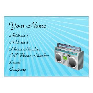 Tarjeta de la industria musical - radio retra tarjetas de visita
