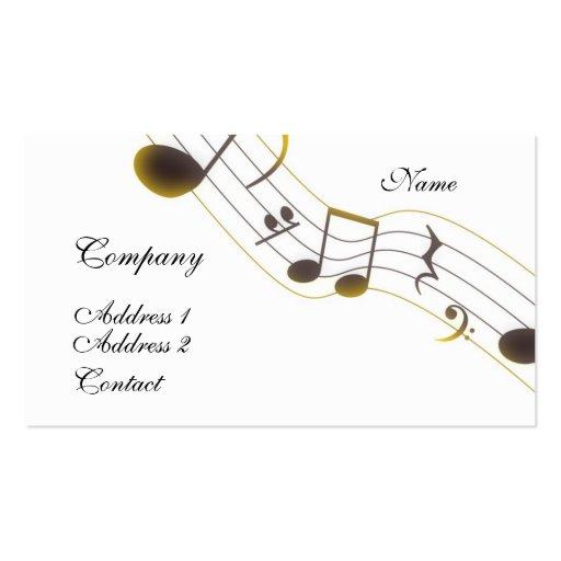 Tarjeta de la industria musical tarjeta de visita